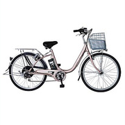 AB2605-CR [Prozza(プロッツァ) 電動アシスト自転車 ルンルン 26型 外装6段変速 シャンパンローズ]