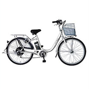 AB2605-PW [Prozza(プロッツァ) 電動アシスト自転車 ルンルン 26型 外装6段変速 パールホワイト]