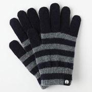 iTG005-NVxGY/S [iTouch Gloves ストライプ NVxGY S]
