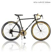 R+713 [ロードバイク GolDragon(ゴールドラゴン) 480mm 700×23C 外装14段変速 ブラック×ゴールド]
