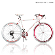 R+714 [ロードバイク SunRise(サンライズ) 520mm 700×23C 外装14段変速 ホワイト×レッド]