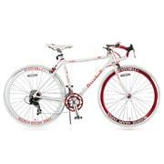 R+714 [ロードバイク SunRise(サンライズ) 480mm 700×23C 外装14段変速 ホワイト×レッド]