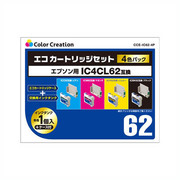 CCE-IC62-4P [EPSON IC4CL62互換 エコカートリッジ 4個パック]