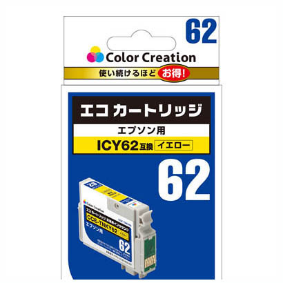 CCE-ICY62 [EPSON ICY62互換 エコカートリッジ イエロー]
