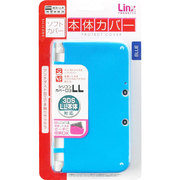 LX-N3L014 シリコンカバー D3LL ブルー [3DS LL用]