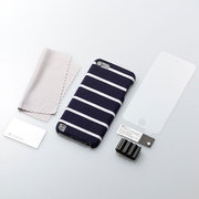 TR-FCTC12-PN [第5世代 iPod touch用 ファブリックカバーセット ポロネイビー]
