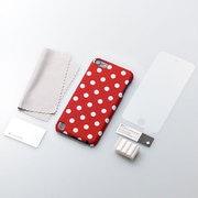 TR-FCTC12-PD [第5世代 iPod touch用 ファブリックカバーセット ポルカドット]