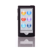 TR-SCNN12-BK [第7世代 iPod nano用 抗菌シリコンケースセット ブラック]