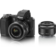Nikon1 V2 ダブルレンズキット ブラック [ボディ+交換レンズ「1 NIKKOR 18.5mm f/1.8」「1 NIKKOR VR 10-30mm f/3.5-5.6」]