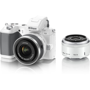 Nikon1 V2 ダブルレンズキット ホワイト [ボディ+交換レンズ「1 NIKKOR 18.5mm f/1.8」「1 NIKKOR VR 10-30mm f/3.5-5.6」]