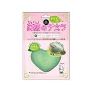 PFD401 [ドライ蒟蒻洗顔マッサージパフ・緑茶]