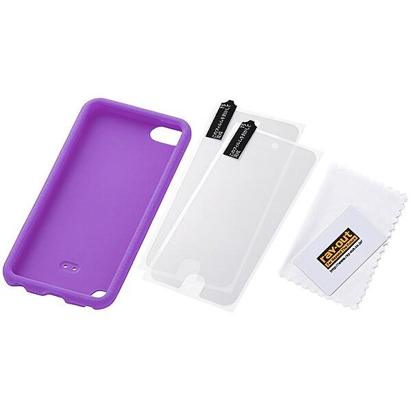 RT-T5B2/V [iPod touch 第5世代用 スリップガード・シリコンジャケット グレープ]