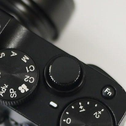 レリーズボタン 10mm ブラック-ペイント