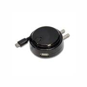 USBACSPBK [スマートフォン用充電器+USB ブラック]