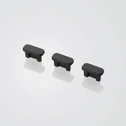 P-CAAMBBK [スマートフォン用 microBコネクタキャップセット 3個セット ブラック]