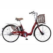 VLL433 OR47 [電動アシスト自転車 Lilly Assist(リリーアシスト) 24型 内装3段変速 ネオダークコスモレッド]