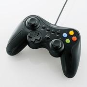 JC-U3613MBK [12ボタンUSBゲームパッド Xinput対応 ブラック]