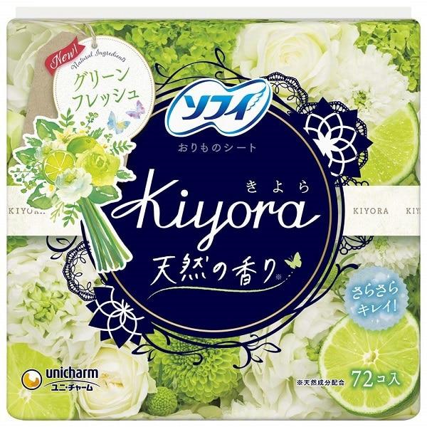 ソフィ Kiyora(きよら) グリーンフレッシュの香り 14cm 72枚入 [パンティライナー]