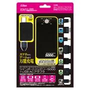 ツインポートバッテリー5000 + USB AC アダプター [3DS LL/3DS/DSi LL/DSi/PS Vita/PSP/iPhone/iPad/iPod/スマートフォン/携帯電話用]