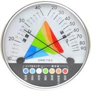 O-311 WT 熱中症 インフルエンザ警告 温湿度計 [ホワイト]