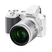 NIKON 1 V2 小型10倍ズームキット ホワイト [ボディ+交換レンズ「1 NIKKOR VR 10-100mm f/4-5.6」]