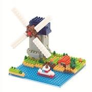 ナノブロック NBH-043 キンデルダイクの風車