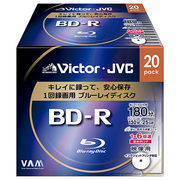 BV-R130JW20 [録画用BD-R 追記型 1-6倍速 片面1層 25GB 20枚 ホワイトレーベルインクジェットプリンター対応]