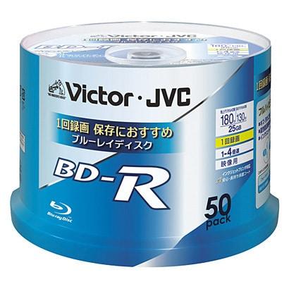 BV-R130U50W [録画用BD-R 追記型 1-4倍速 片面1層 25GB 50枚 ホワイトレーベルインクジェットプリンター対応]