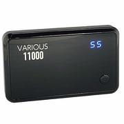 PVB-11000BK [スマホ&iPhone&各種対応大容量マルチバッテリー 11000mAh USB出力:3ポート 最大合計:4A]