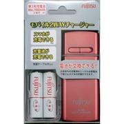 FSC322FX-P(FX) [単3形・単4形兼用 USBモバイル急速充電器セット 単3形2本付 最大2本まで充電可能 ピンク]