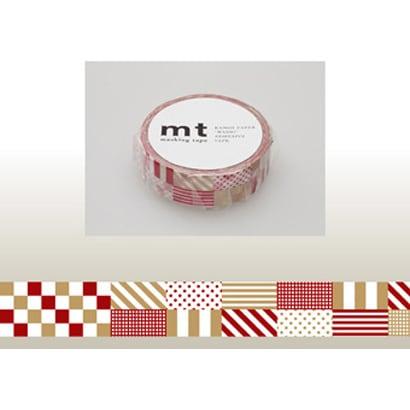 MT01D121 [15mm×10m mt1P ミックス・レッド]