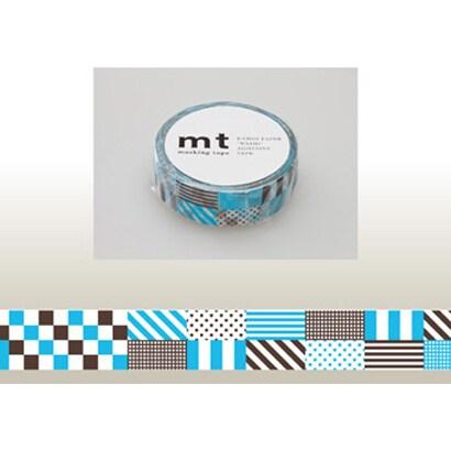 MT01D122 [15mm×10m mt1P ミックス・ブルー]