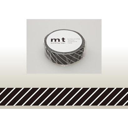 MT01D153 [15mm×10m mt1P ストライプ・ブラック]