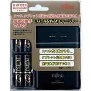 FSC341FX-B(FX) [USBモバイルチャージャー スマホ・タブレット充電器 充電池の充電器 乾電池式の緊急スマホ充電器 ブラック]