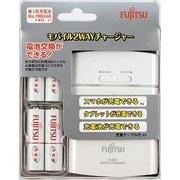 FSC342FX-W(FX) [USBモバイルチャージャー スマホ・タブレット充電器 充電池の充電器 乾電池式の緊急スマホ充電器 ホワイト]