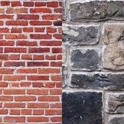 LB5711 [アーバン背景 1.5 x 2.1m 赤レンガ/グレー石壁]