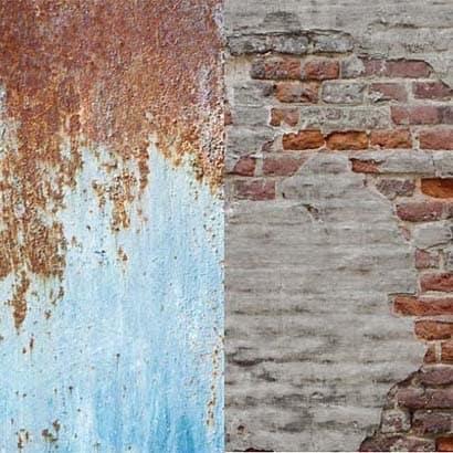 LB5713 [アーバン背景 1.5 x 2.1m 錆メタル/しっくい壁]