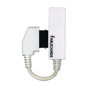 HAB-A1WH [変換アダプターパーツ(ホワイト/3.5φステレオ・平型→外部接続端子)]