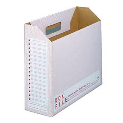 FL-099BF [ボックスファイル・エコノミータイプ 〈再生紙段ボール製〉 10冊パック レッド A4-E]