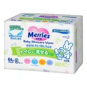 メリーズ トイレに流せるするりんキレイおしりふき [つめかえ用 3コパック 192枚(64枚×3個)]