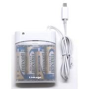 LIP-04LBAW [iPhone5用電池充電器 ホワイト 単三4本使用]