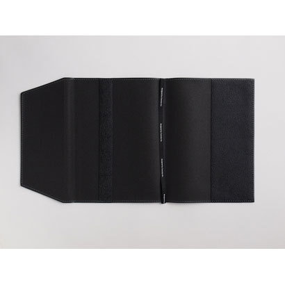 12581 [B6ブックカバー皮革調R ブラック]