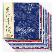 ミ082 [藍染千代紙 大]