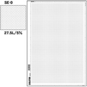 SE-0 [スクリーントーン デリータースクリーン アミ点 27.5L 5%]