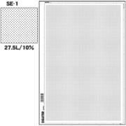 SE-1 [スクリーントーン デリータースクリーン アミ点 27.5L 10%]