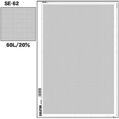 SE-62 [スクリーントーン デリータースクリーン アミ点 60L 20%]