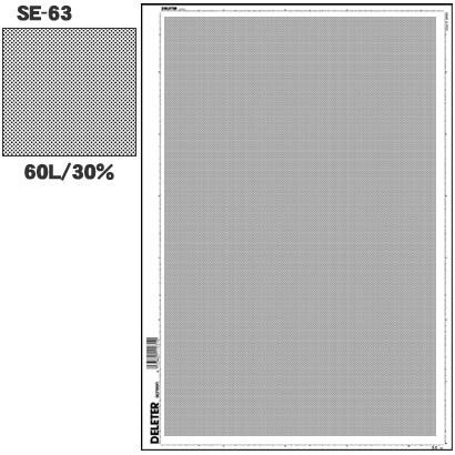 SE-63 [スクリーントーン デリータースクリーン アミ点 60L 30%]