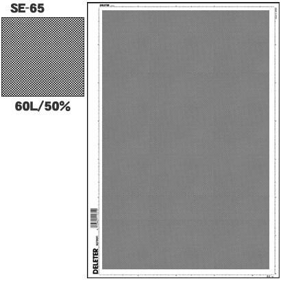 SE-65 [スクリーントーン デリータースクリーン アミ点 60L 50%]
