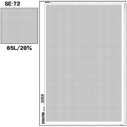 SE-72 [スクリーントーン デリータースクリーン アミ点 65L 20%]