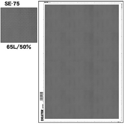 SE-75 [スクリーントーン デリータースクリーン アミ点 65L 50%]